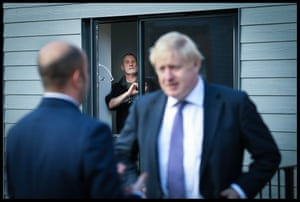 Paul O'Rourke, who served with the Royal Irish Rangers, looks on after meeting Prime Minister Boris Johnson during a visit to a veterans centre in Salisbury,