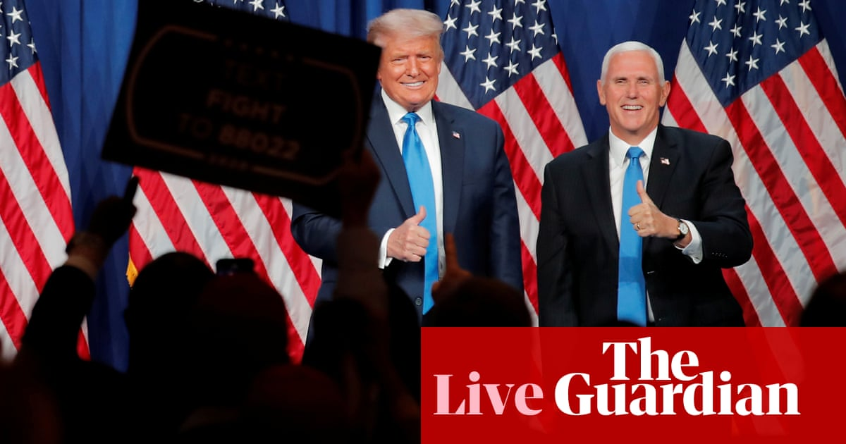 Pence breaks from Trump and calls bid to reverse election result 'un-American' – live