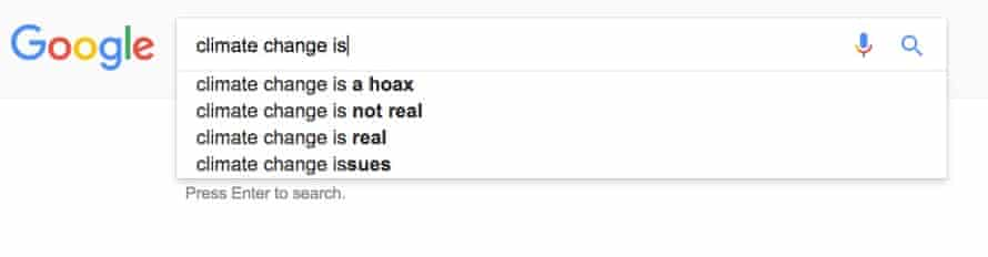 google climate change