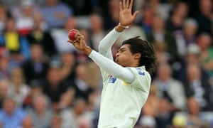 Mohammad Amir bowls during the fourth npower Test between England and Pakistan at Lord's on 27 August 2010.