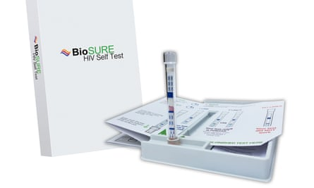 HIV self-testing kit.