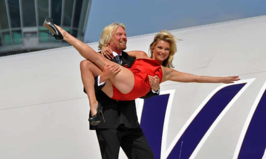 Branson celebrates the 25th anniversary of Virgin Atlantic in 2009.