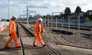 Workers on Acton Main Line