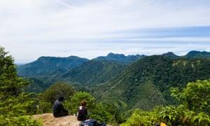 Greg McCann (left) and Julia Mörchen (right) gaze on more unsurveyed hills.