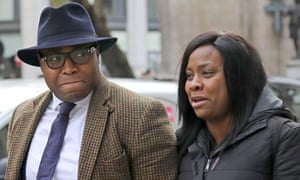 Lanre Haastrup and Takesha Thomas outside the high court in London