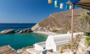 Ilha folegandros, ágios, Nikolaos, baía, grécia, ilhas cyclades,