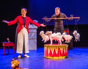 Isabella Rossellini and her dog Pan in Link Link at Queen Elizabeth Hall