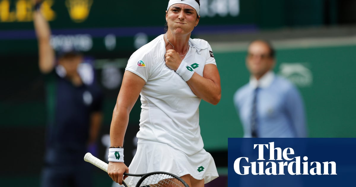 Jabeur wins hearts of Centre Court crowd on way to victory over Muguruza