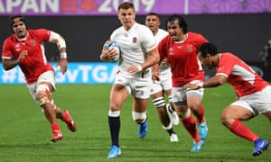 Henry Slade injured his knee in England's first Rugby World Cup game against Tonga.