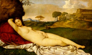 By George? … Even Giorgione's Sleeping Venus (1510), thought to be completed by Titian, has its radical doubters. Photograph: Gemäldegalerie Alte Meister, Staatliche Kunstsammlungen Dresden/Foto: Klut