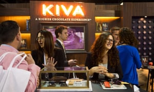 Kiva Confections sells chocolate cannabis products at the Marijuana Business Conference and Expo