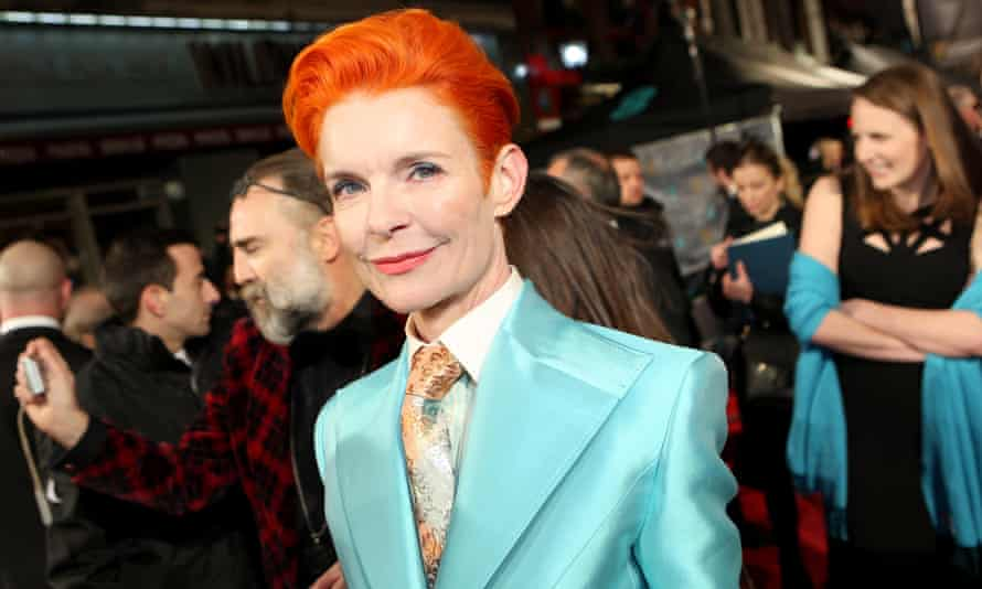 Sandy Powell in Bowie mode at the Baftas earlier this year.