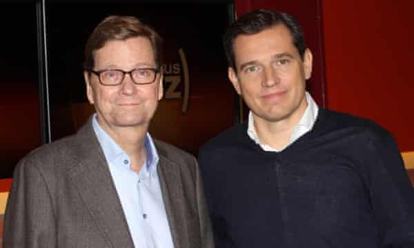 Guido Westerwelle and his husband, Michael Mronz.