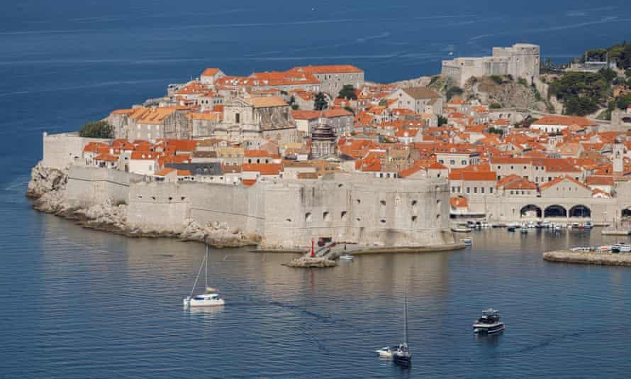 The old city of Dubrovnik, Croatia.