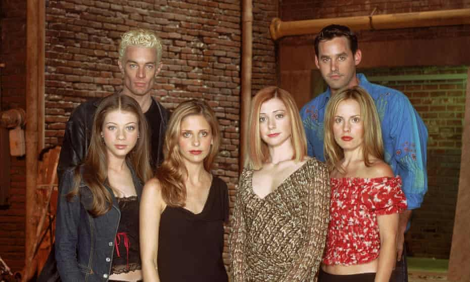 Buffy and some of the Scooby gang from season seven