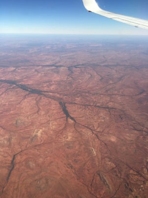 photo of Western Desert from plane