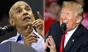 Obama and Trump, vying to convince voters that theirs is the most compelling vision of America.
