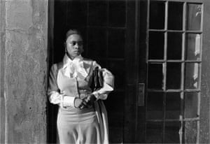 A Woman Waiting in the Doorway, Harlem, NY,1976
