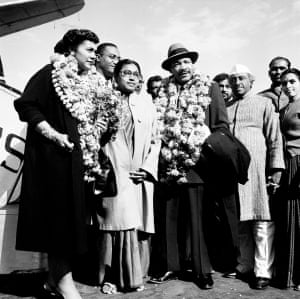 Martin Luther King Jr visiting India in 1959.