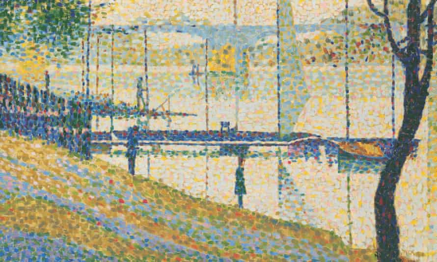 Detail of Copy after Le Pont de Courbevoie by Georges Seurat, 1959.
