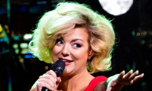 'An old-fashioned, Marilyn Monroe sort of glamour' ... Sheridan Smith performing at Bridgewater Hall.