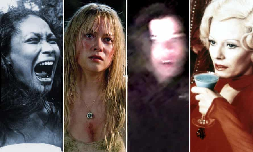 Composite of the horror films Ganja and Hess, The Ruins, Lake Mungo and Daughters of Darkness