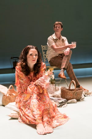 Elaine Cassidy and Emmet Kirwan in Aristocrats at the Donmar Warehouse.
