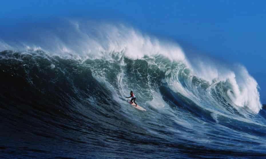 'Some kids are still quite scared to challenge the hierarchy' … Cass Collier at Big Wave Africa, which is held at Dungeons, in 2000.