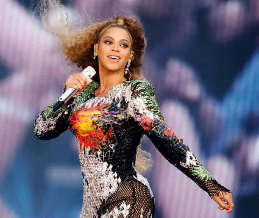 Beyonce on stage in Germany in July