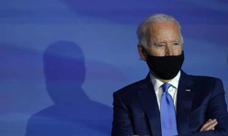 Joe Biden in Wilmington, Delaware, on 11 December.