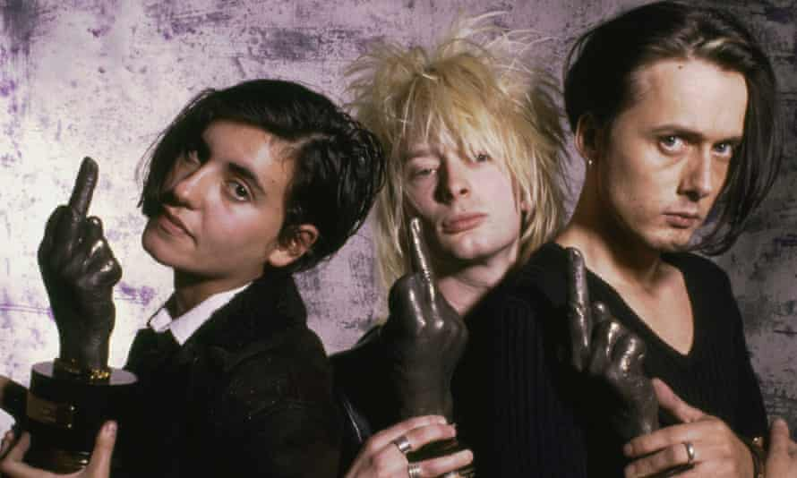Justine Frischmann of Elastica, Thom Yorke of Radiohead and Brett Anderson at the 1994 NME Brat awards.