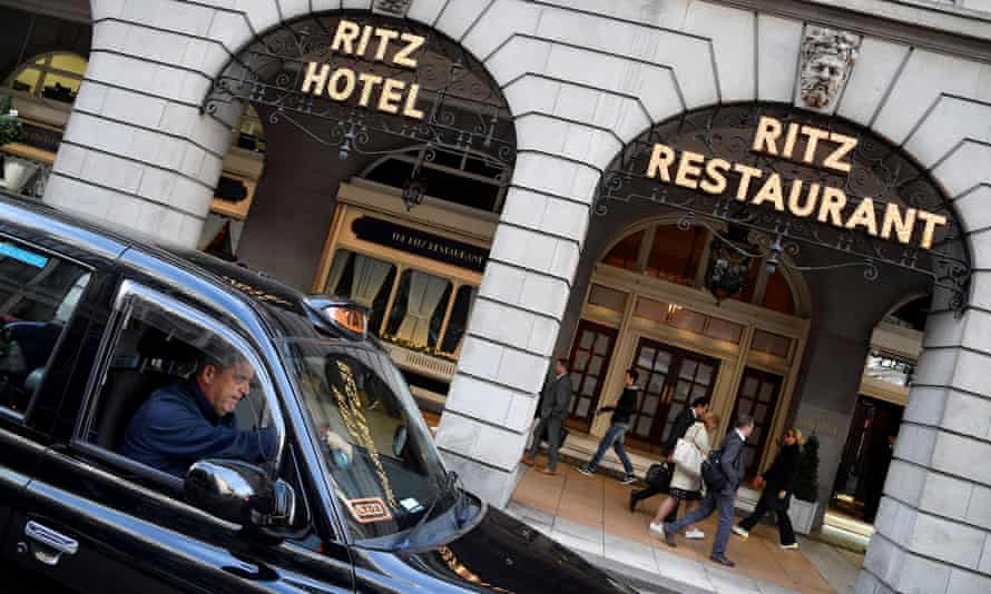The Ritz London hotel in Piccadilly, central London.