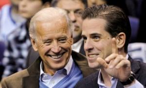 Joe Biden with his son Hunter in 2010. Trump has repeatedly drawn attention to Hunter Biden's work in Ukraine.