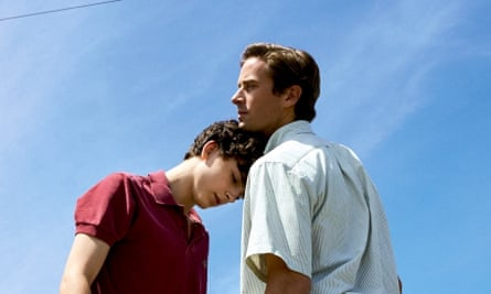 Take two … Timothée Chalamet and Armie Hammer in the 2017 film of Call Me By Your Name.