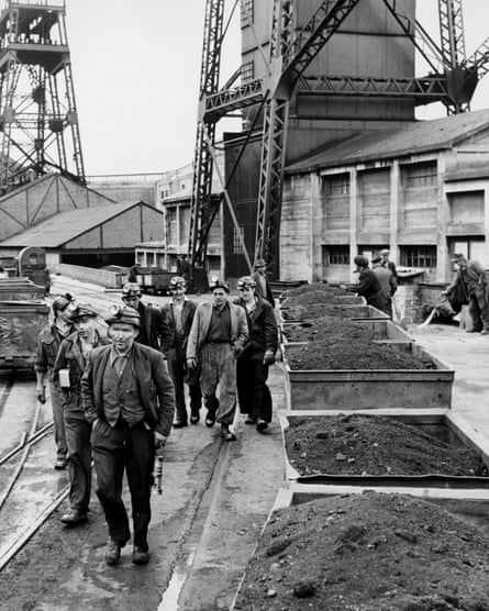 Coalminers in Tredegar in the 1950s. The town's health problems changed after the mines closed.