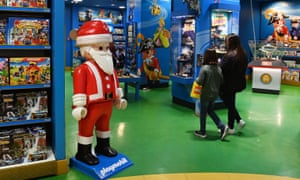 Toys on display at Hamley's toy store in London, Britain, today