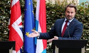 Luxembourg's prime minister, Xavier Bettel