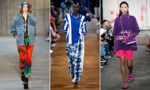 Models wearing skate-inspired clothes from left: R13, Stella McCartney and House of Holland.