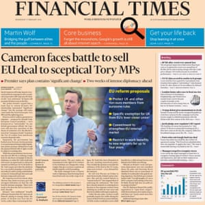 The Financial Times recognised Cameron's deal would be denounced by Europhobes.