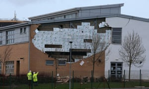 A collapsed wall in January at Oxgangs Primary raised concerns about safety at PPP constructed schools. Edinburgh city council has closed 17 schools, including five secondaries.