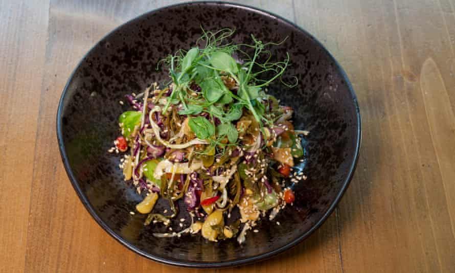 'Textural, sparky joy': pickled tea leaf salad at Lahpet.