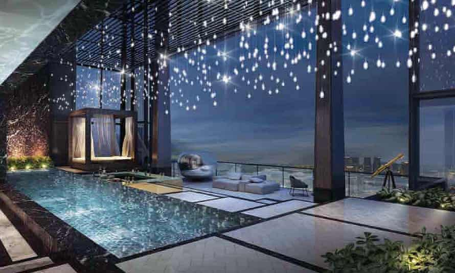 Interior of James Dyson's newly acquired penthouse in Singapore.