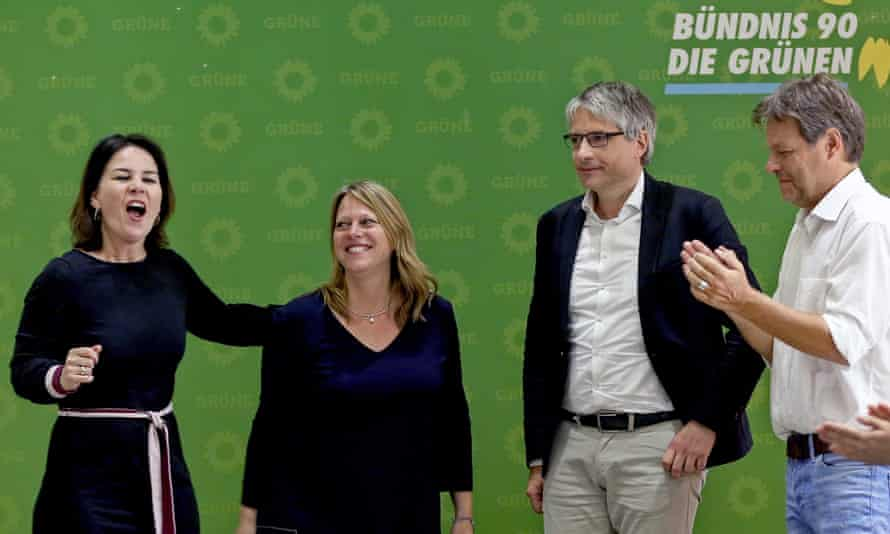 The German Green MEP Sven Giegold, second from right