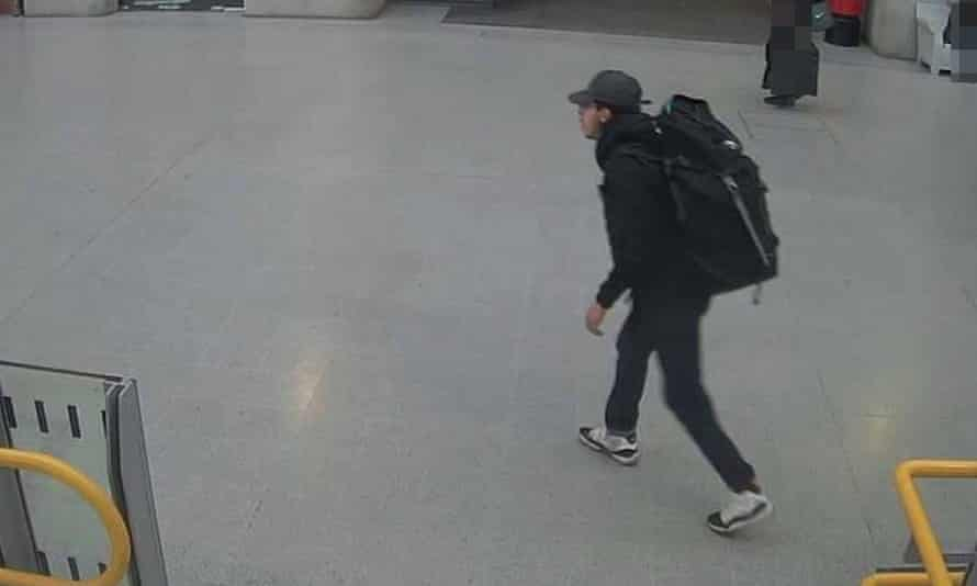 CCTV image of Salman Abedi at Victoria Station making his way to the Manchester Arena on 22 May 2017.