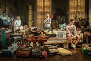 Monica Dolan, Steven Mackintosh and Edward Hogg in Appropriate at the Donmar Warehouse.