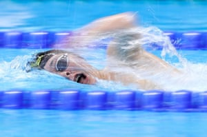 Hamish McLean of New Zealand competes in the men's 400m freestyle S6 final