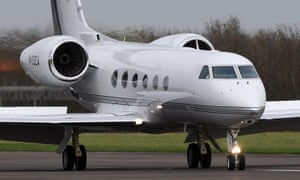 Plane which carried Shaker Aamer