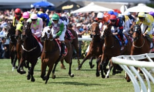 Prince of Penzance, ridden by Michelle Payne, wins the Melbourne Cup