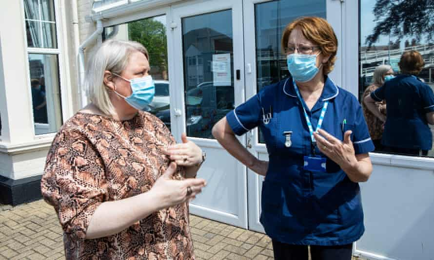 Vicky Whale, left, and Estelle Mirza at Kingsgate care home in Clacton.