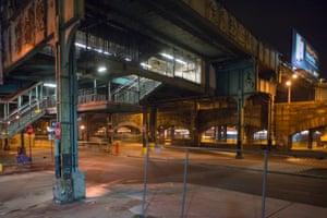 Labyrinth, Atlantic Ave. L station, at Snediker Ave., Brooklyn, 2013